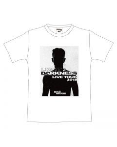 LIGHT> DARKNESS photo T-shirt WHITE