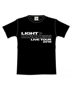 LIGHT> DARKNESS Tour T-shirt BLACK