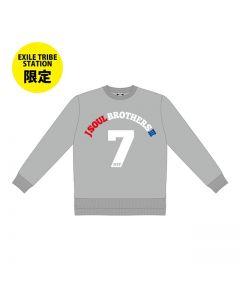 【ETSLimited】RAISE THE FLAG Numbering sweatshirt GRAY