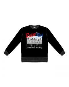RAISE THE FLAG Photo sweatshirt BLACK