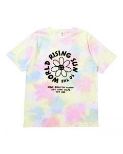 RISING SUN TO THE WORLD Tie-dye T-shirt