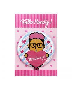 Hello MANDY Heart Can Badge A
